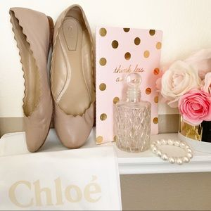 Chloe Lauren scallop flats sz 37 with dustbag